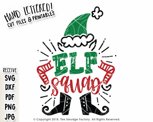 Elf Squad SVG & Printable