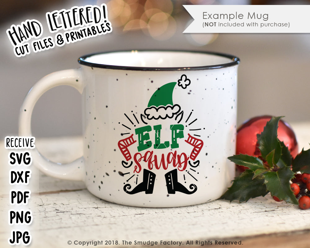 Elf Squad Svg Printable The Smudge Factory