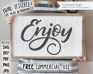 Enjoy SVG & Printable