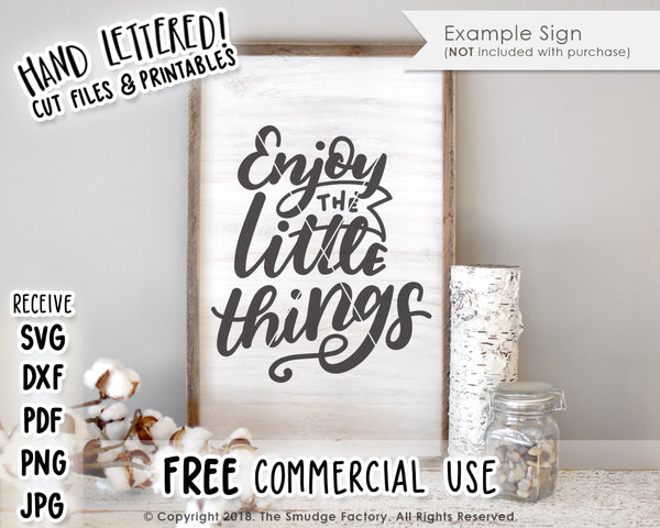 Enjoy The Little Things SVG & Printable