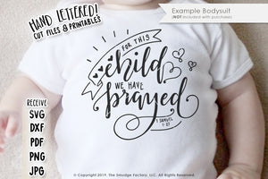 For This Child We Have Prayed SVG & Printable