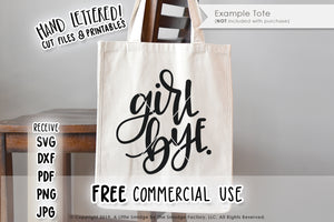 Girl Bye SVG & Printable
