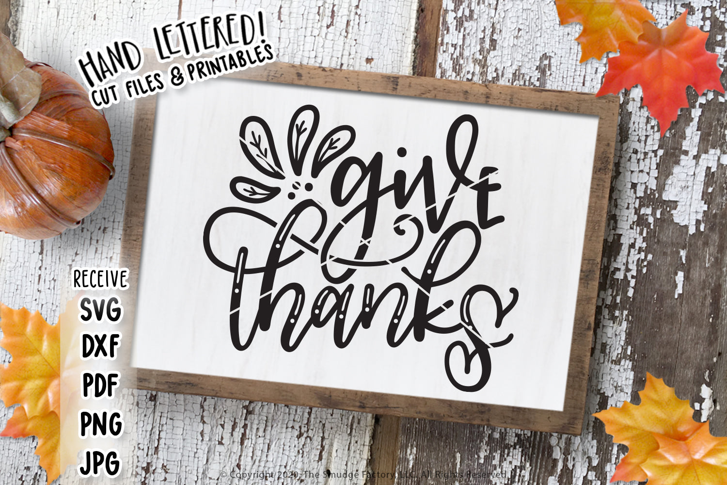 Give Thanks SVG & Printable