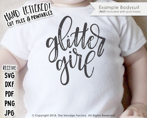 Glitter Girl SVG & Printable