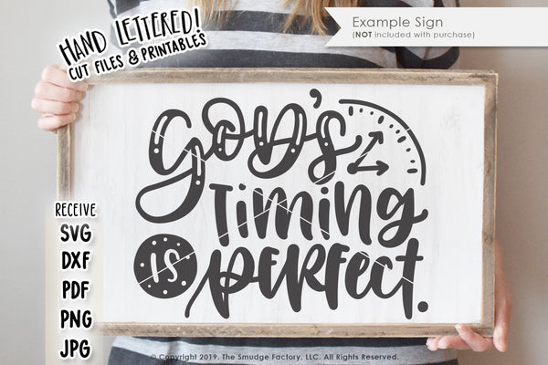 God's Timing Is Perfect SVG & Printable