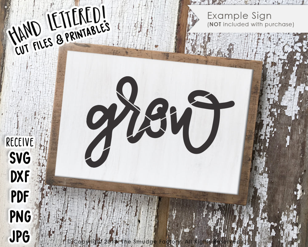 Grow SVG & Printable