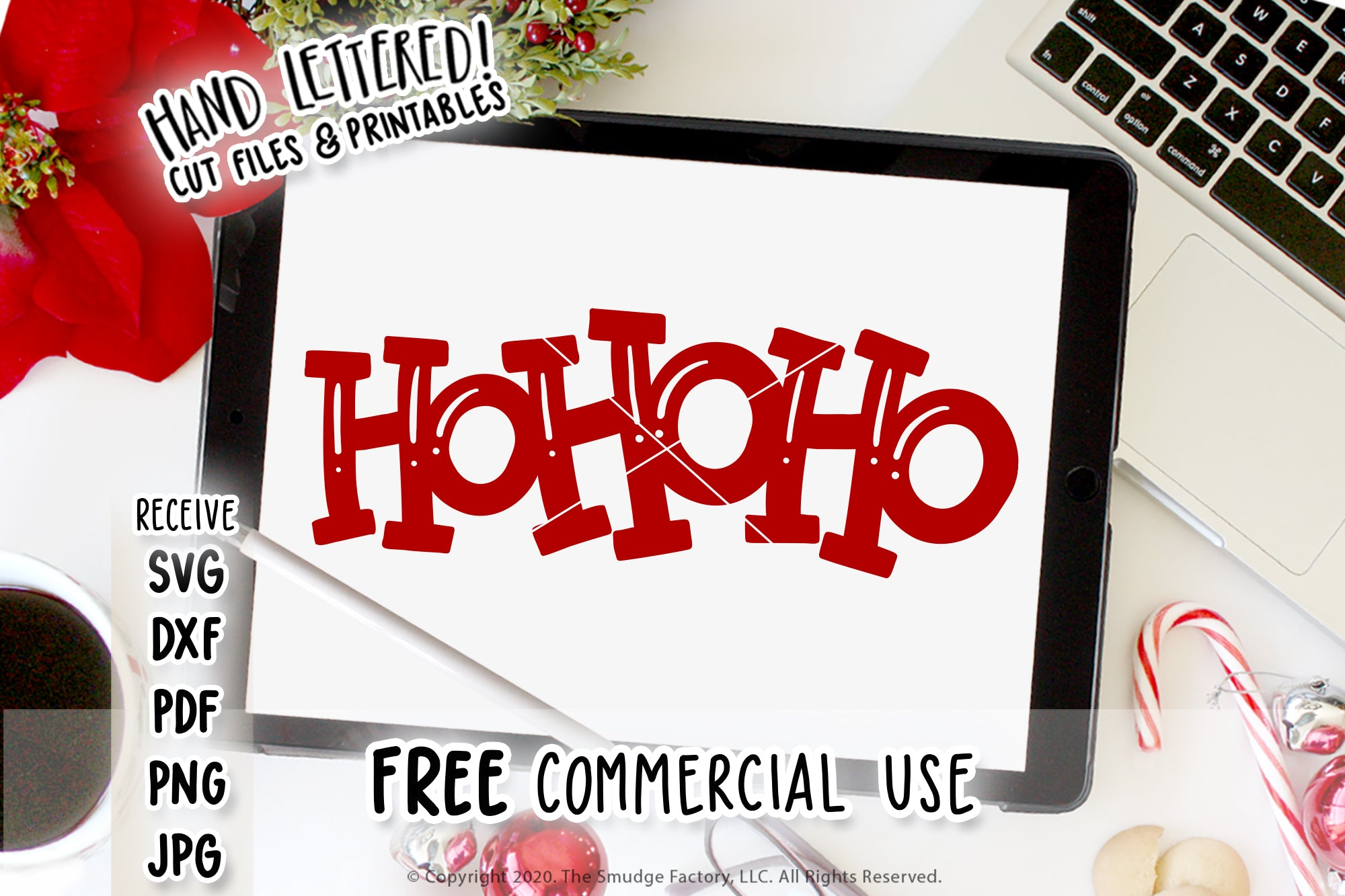 Ho Ho Ho SVG & Printable