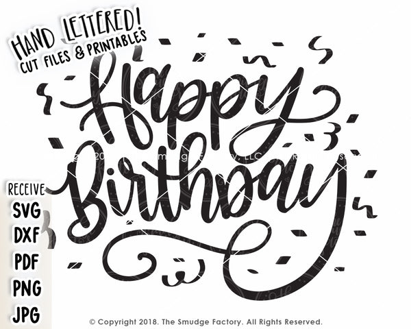 Happy Birthday SVG & Printable