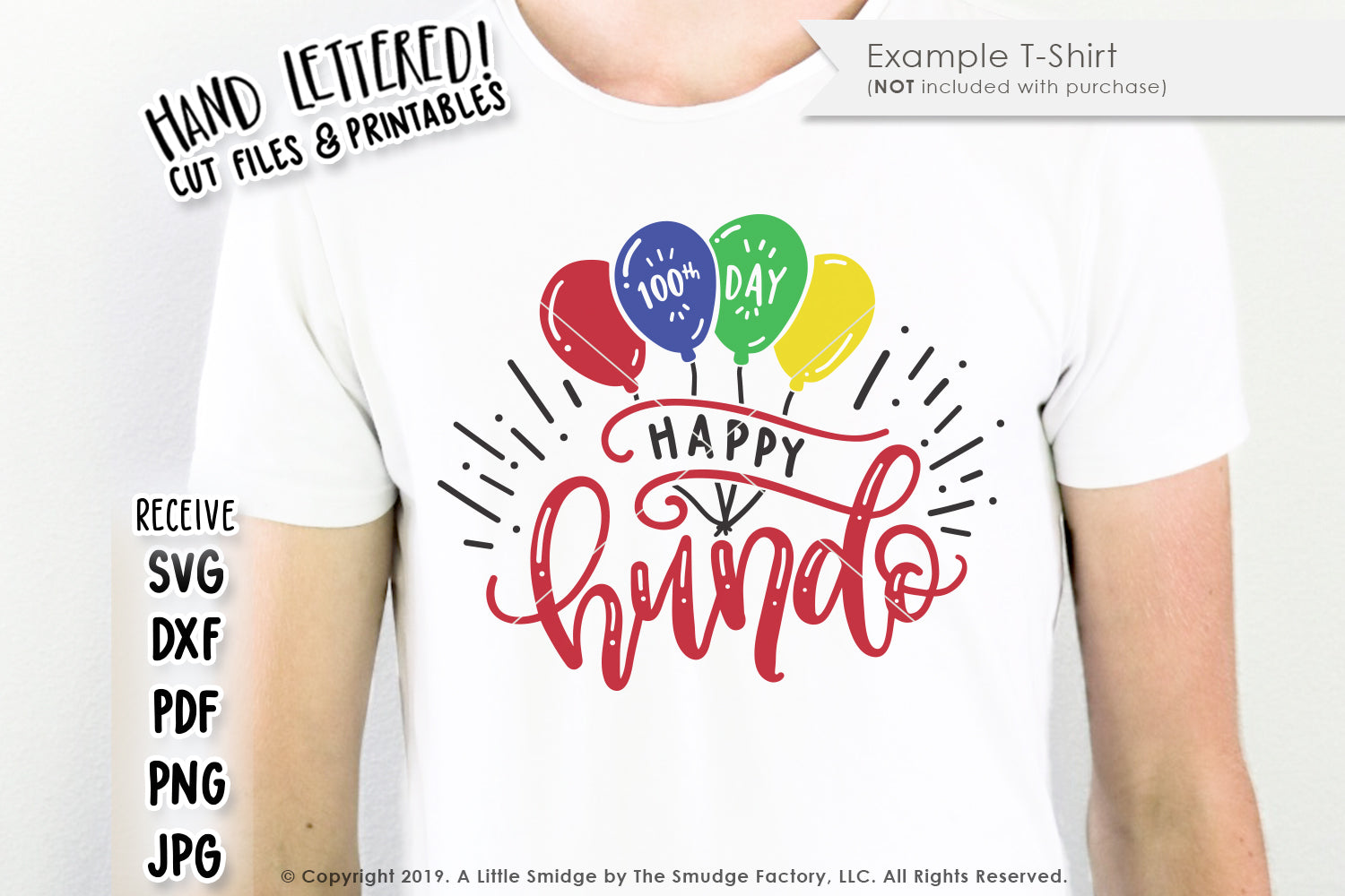 Happy Hundo, Hundredth Day Of School SVG & Printable