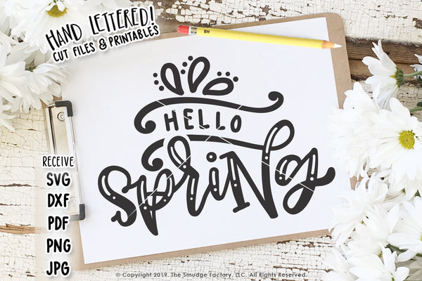 Hello Spring SVG & Printable