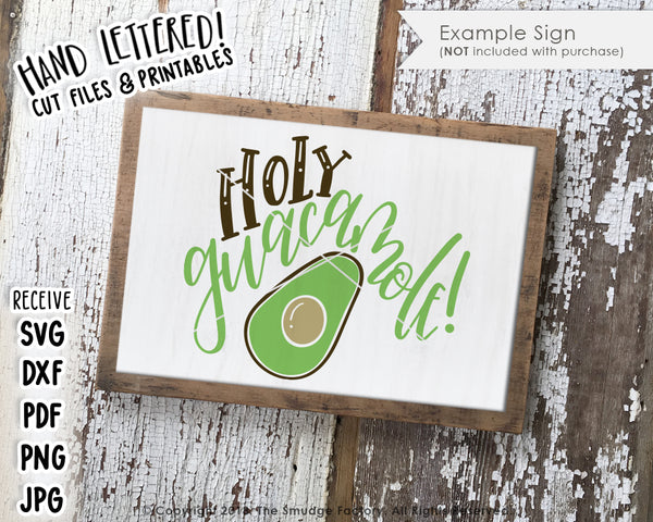 Holy Guacamole SVG & Printable