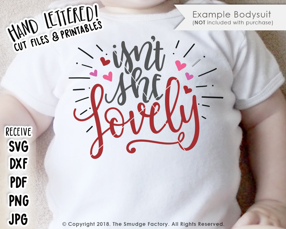 Isn't She Lovely SVG & Printable