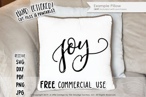 Joy SVG & Printable