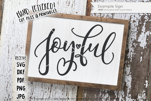 Joyful SVG & Printable