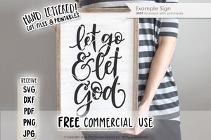 Let Go & Let God SVG & Printable
