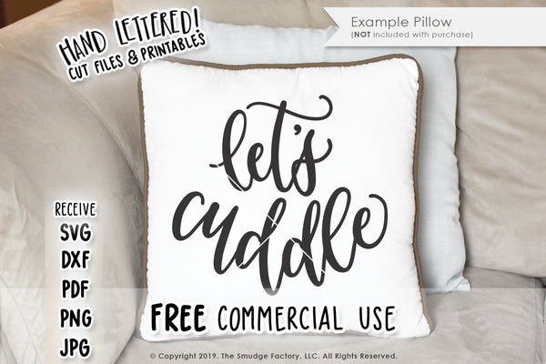Let's Cuddle SVG & Printable