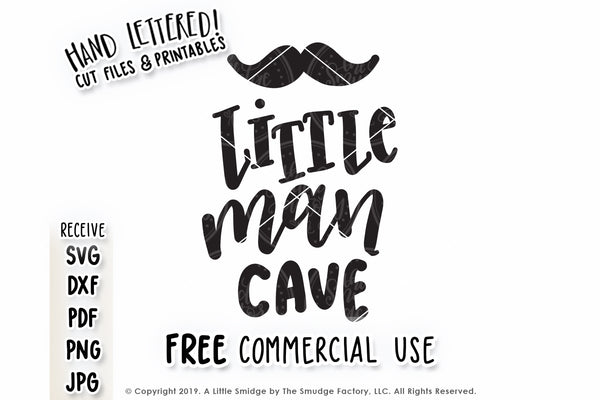 Little Man Cave SVG & Printable
