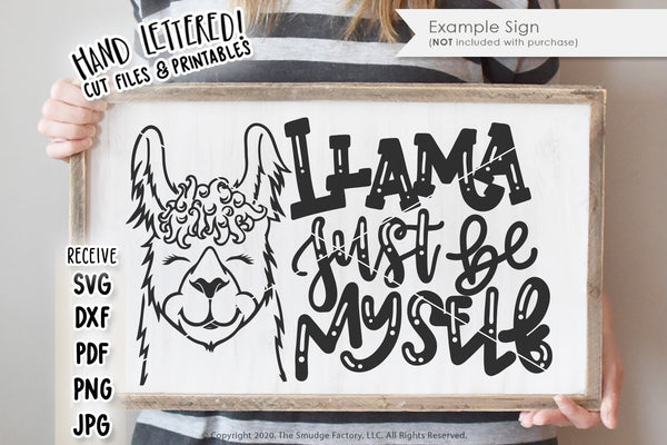 Llama Just Be Myself SVG & Printable