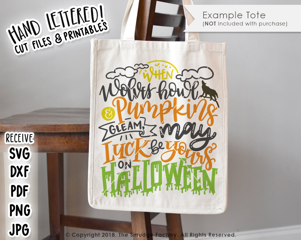 May Luck Be Yours On Halloween SVG & Printable