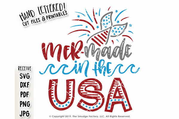 Mer-Made In The USA SVG & Printable