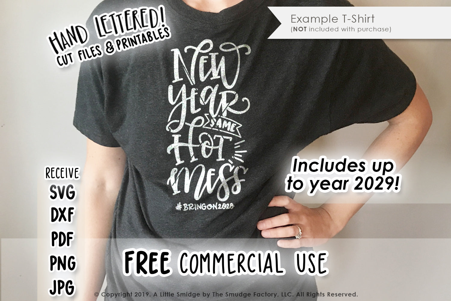 New Year, Same Hot Mess SVG & Printable