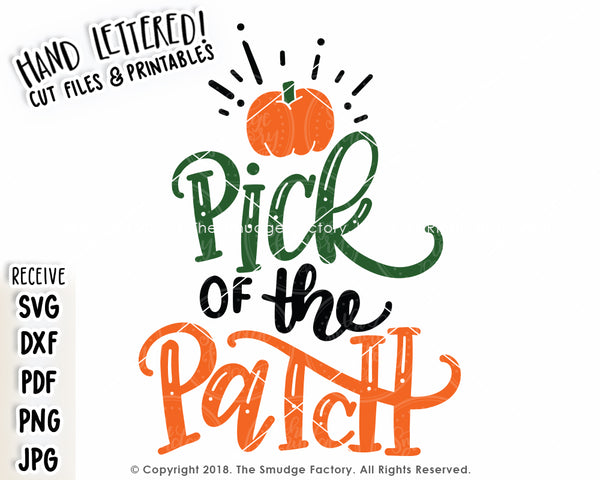 Pick Of The Patch SVG & Printable