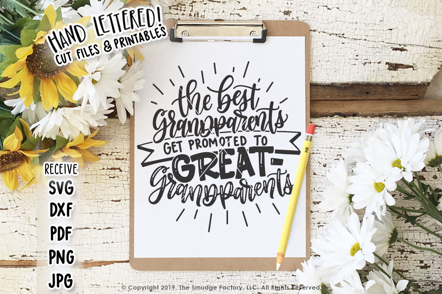 The Best Grandparents Get Promoted To Great-Grandparents SVG File & Printable