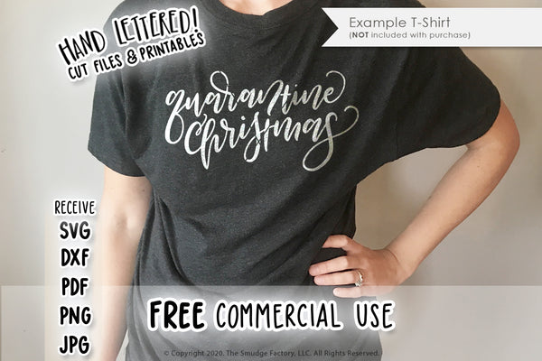 Quarantine Christmas SVG & Printable