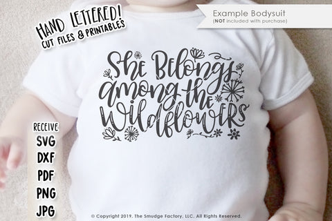 She Belongs Among The Wildflowers SVG & Printable