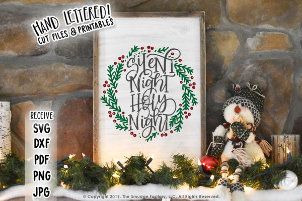 Silent Night, Holy Night SVG & Printable