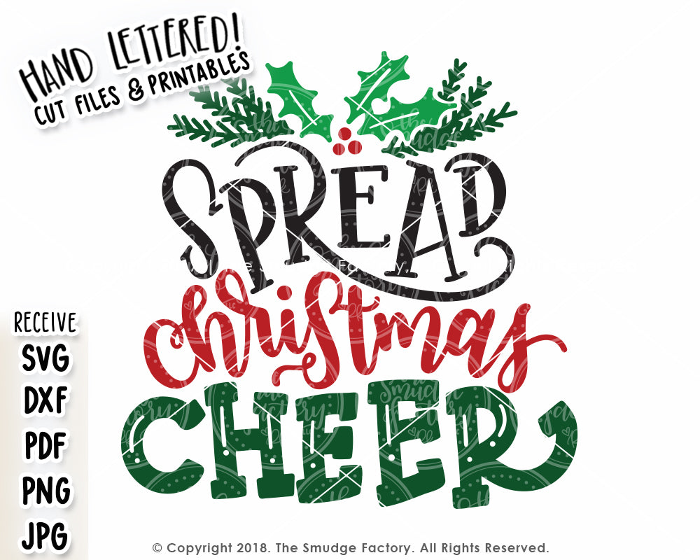 Christmas Cheer.Spread Christmas Cheer Svg Printable