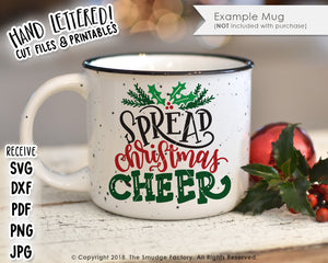 Spread Christmas Cheer SVG & Printable