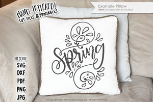 Spring Swirls SVG & Printable