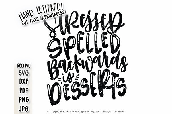 Stressed Spelled Backwards Is Desserts SVG & Printable