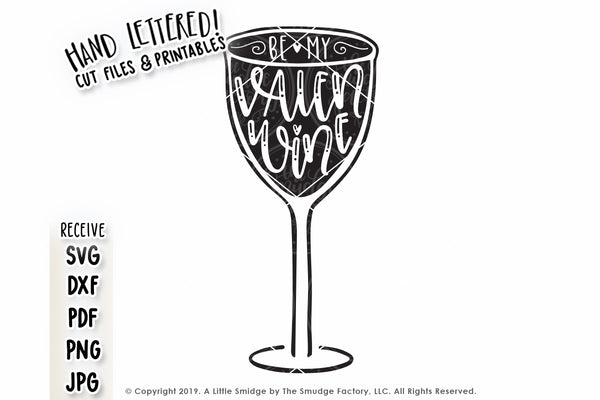 Valen-Wine SVG & Printable