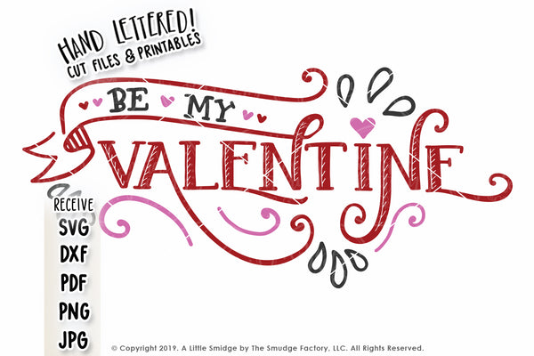 Be My Valentine Banner SVG & Printable