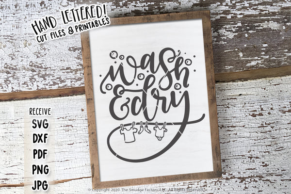 Wash & Dry SVG & Printable