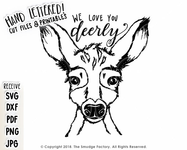 We Love You Deerly SVG & Printable
