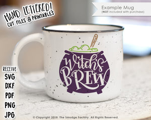 Witch's Brew SVG & Printable