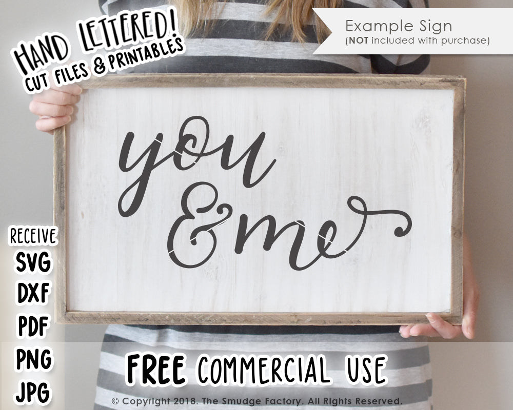 You & Me SVG & Printable
