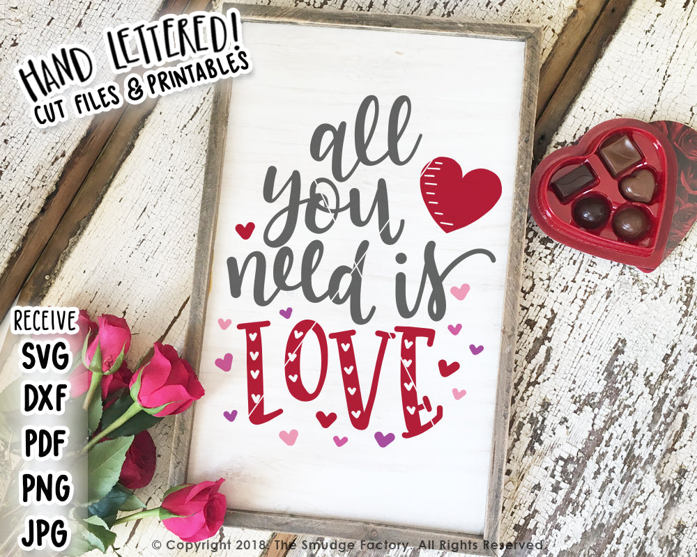 All You Need Is Love SVG & Printable