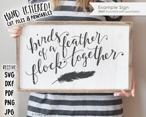 Birds Of A Feather Flock Together SVG & Printable