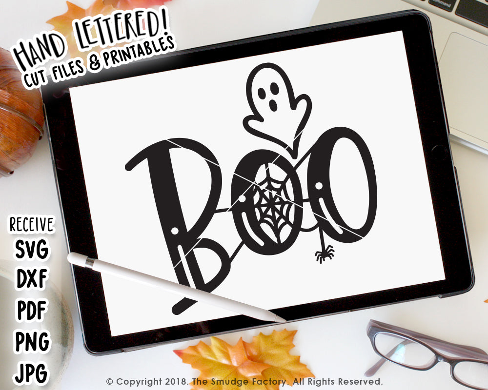 Boo SVG & Printable