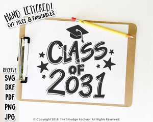Class of 2031 SVG & Printable