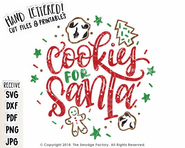 Cookies for Santa SVG & Printable