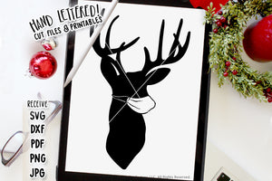 Deer Silhouette In A Mask SVG & Printable