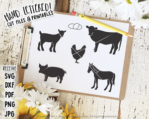 Farm Animals SVG & Printable