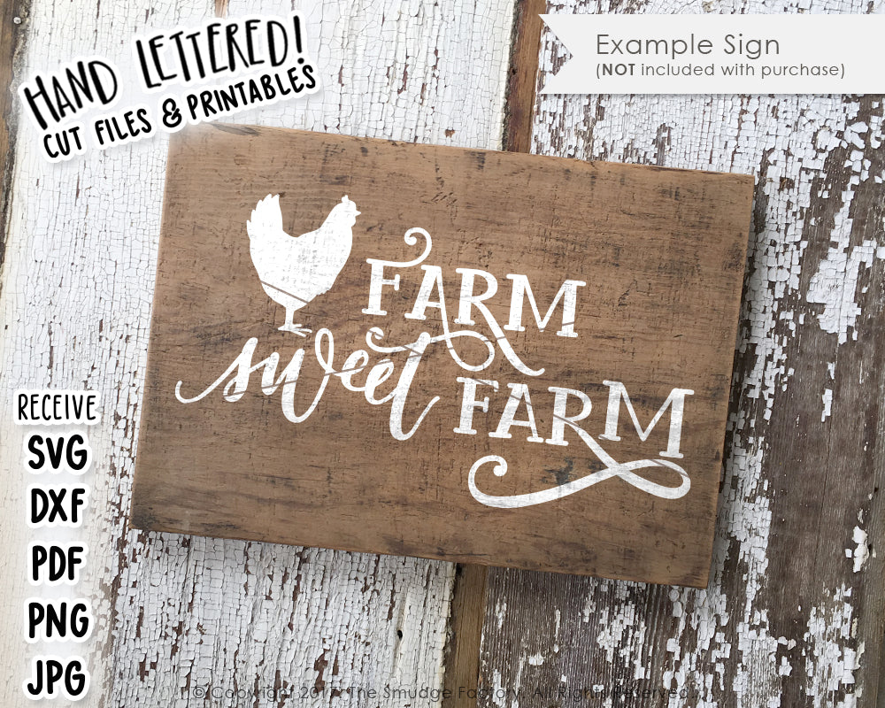 Farm Sweet Farm SVG & Printable