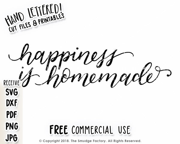 Happiness Is Homemade SVG & Printable