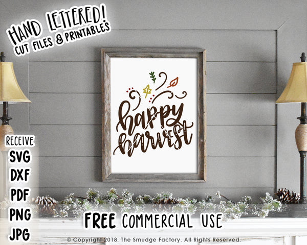 Happy Harvest SVG & Printable